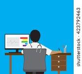 vector illustration doctor... | Shutterstock .eps vector #423792463