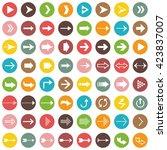 vector arrow icon set | Shutterstock .eps vector #423837007