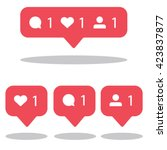 social network icons pack. like ... | Shutterstock .eps vector #423837877