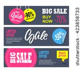 sale banners design. collection ... | Shutterstock .eps vector #423858733