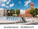 church of saints simon and... | Shutterstock . vector #423865147