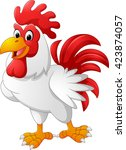 cartoon chicken rooster posing | Shutterstock . vector #423874057