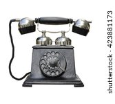 Vintage Telephone Isolated On...