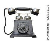 Vintage Telephone Isolated On...