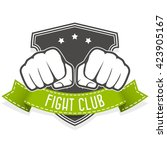 fight club emblem with two... | Shutterstock .eps vector #423905167