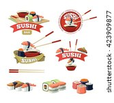 vector set of sushi banners ...