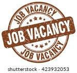 job vacancy. stamp | Shutterstock .eps vector #423932053