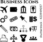 16 icon set. business icons.... | Shutterstock .eps vector #423949057