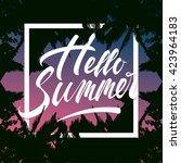 Hello Summer Lettering Tropica...