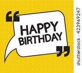 happy birthday illustration... | Shutterstock .eps vector #423969247