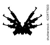 automatic gun background element | Shutterstock .eps vector #423977833