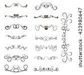 calligraphy swirl  line graphic ...   Shutterstock .eps vector #423980647