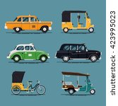 Cool Vector Set Of World Taxi...