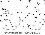 a flock of flying birds....   Shutterstock .eps vector #424015177