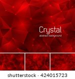 crystal abstract background | Shutterstock .eps vector #424015723