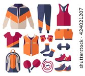 set of sportswear. vector... | Shutterstock .eps vector #424021207