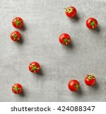 Small Fresh Cherry Tomatoes On...