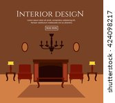 flat style concept set of... | Shutterstock .eps vector #424098217