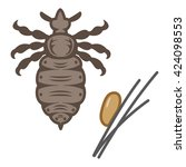 adults and eggs of lice | Shutterstock .eps vector #424098553