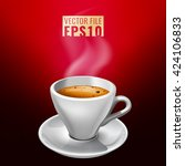 vector illustration of coffee...   Shutterstock .eps vector #424106833