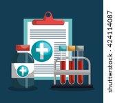 medical healthcare design  | Shutterstock .eps vector #424114087