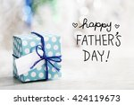 happy fathers day message with...   Shutterstock . vector #424119673