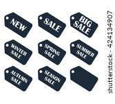 discount sale price tags labels ... | Shutterstock . vector #424134907