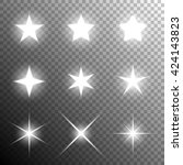 shining stars. vector... | Shutterstock .eps vector #424143823