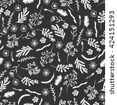seamless pattern with... | Shutterstock .eps vector #424151293