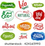 labels with vegetarian and raw... | Shutterstock .eps vector #424165993