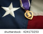 the purple heart is a united... | Shutterstock . vector #424173253
