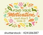 motivation calligraphy ...   Shutterstock .eps vector #424186387