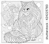 zentangle stylized cartoon... | Shutterstock .eps vector #424225783