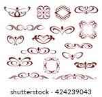 set of decorative frames... | Shutterstock .eps vector #424239043