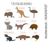 Vector Set Of Australian...