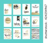 summer cards and banners set....   Shutterstock .eps vector #424254967
