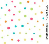 seamless pattern with dots of... | Shutterstock .eps vector #424255627