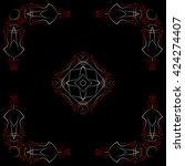 pinstripe corner design vector... | Shutterstock .eps vector #424274407