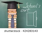 funny school holiday concept | Shutterstock . vector #424283143