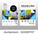geometric vector backgrounds... | Shutterstock .eps vector #424285747