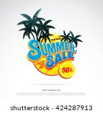 summer sale template banner | Shutterstock .eps vector #424287913