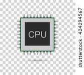 cpu icon picture. vector...