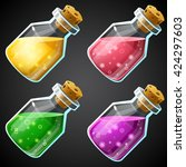 set of vector cartoon potion...