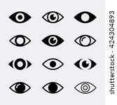 Eyes Vector Icon Set....