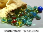 Glass Marbles Spilling Out Fro...