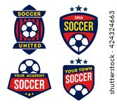 football logo badges isolated... | Shutterstock .eps vector #424324663