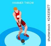 athletics hammer throw... | Shutterstock .eps vector #424335877