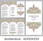 ornate vintage booklet with... | Shutterstock .eps vector #424354153