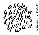 hand drawn alphabet. made with... | Shutterstock .eps vector #424361893