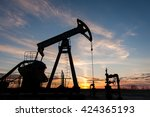 Silhouette Oil Pump Jacks At...